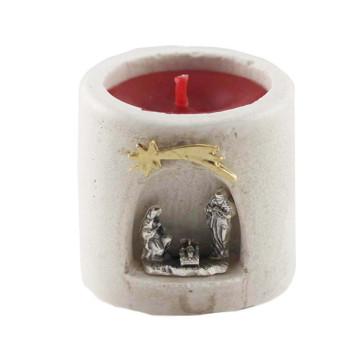 Nativity Scene manger candle