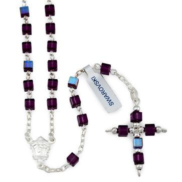Swarovski Square Beads Catholic Rosary
