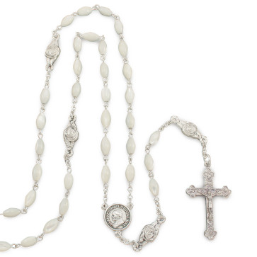 Catholic Rosary Pope John Paul II Mother of Pearl