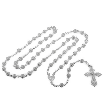 Silver Beads Rosary