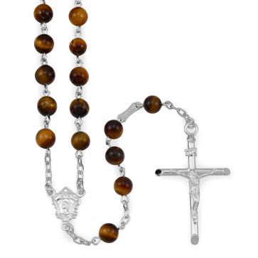 Tiger Eye Beads Catholic Rosary