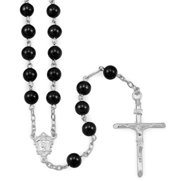 Hematite Beads Catholic Rosary