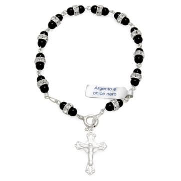 Crystals Catholic Rosary Bracelet