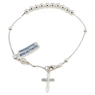 Sterling Silver Sliding Beads Rosary Bracelet