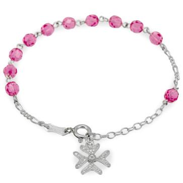 Silver Catholic Rosary Bracelet