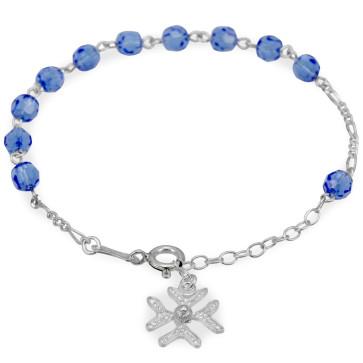 Silver Rosary Catholic Bracelet