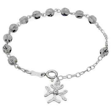 Swarovski Crystal Beads Catholic Rosary Bracelet