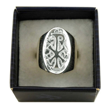 Catholic Sterling Silver Ring with Greek Cross