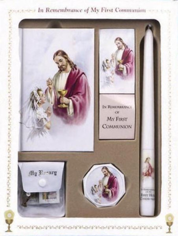 Catholic First Communion Deluxe Box Set for Girls - Sacred Heart Edition