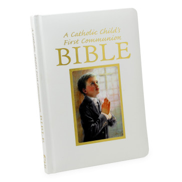 A Catholic Child's First Communion Bible for Boys - Blessings