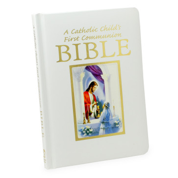 A Catholic Child First Communion Bible for Girls - Traditions