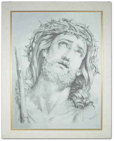 Catholic Crown of Thorns with Gold Trimmed Mat