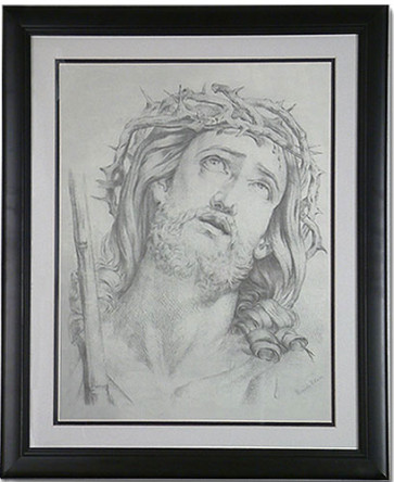 Crown of Thorns with Black Frame - Catholic