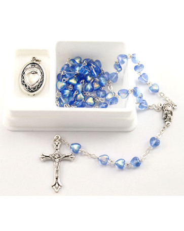 Heart Beads Catholic Rosary Set