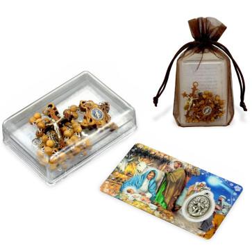 Olive Wood Rosary Gift Set