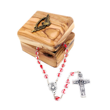 Rosary Gift Set with Confirmation Wooden Box