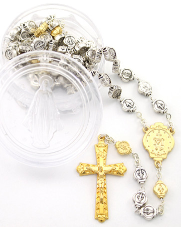 Miraculous Catholic Rosary w/ Plastic Box