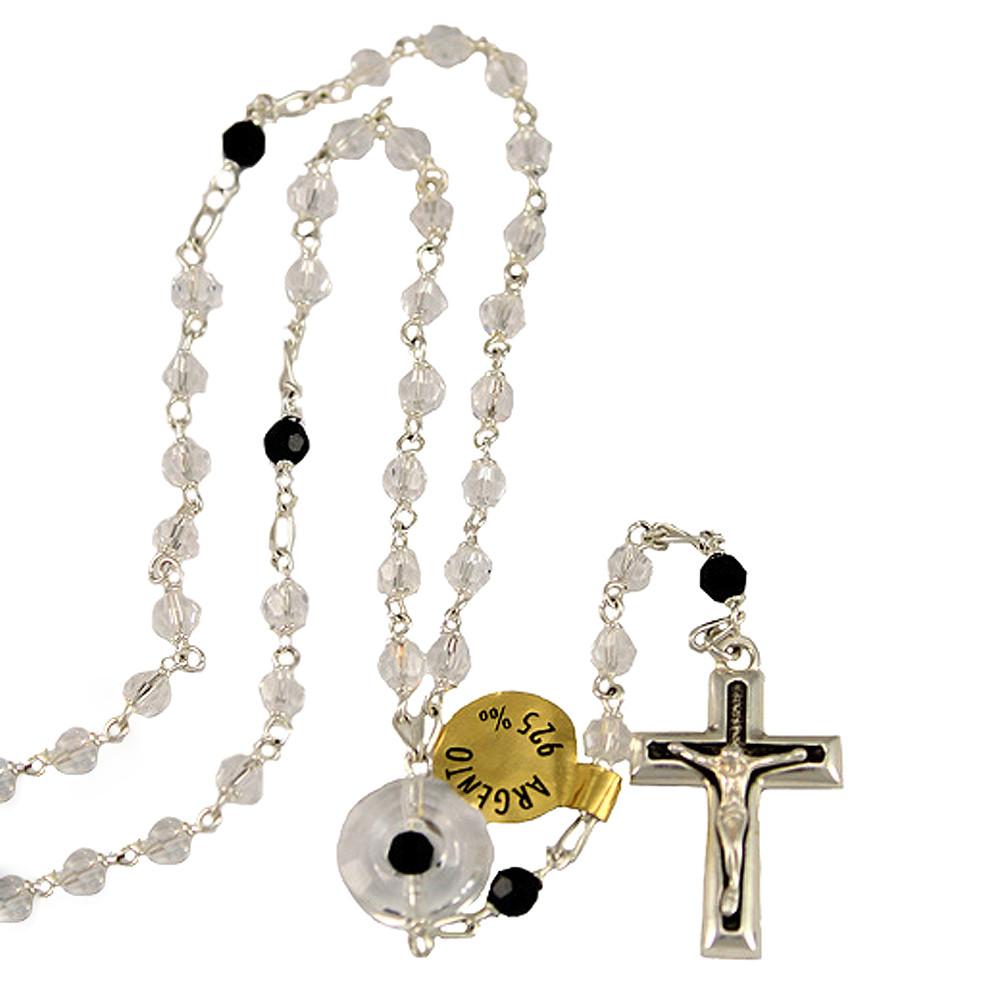 Swarovski Crystal Beads Sterling Silver Rosary Sku 4