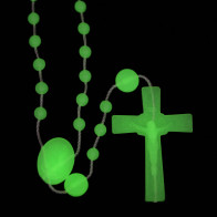 Miraculous Medal Glow in the Dark Plastic Beads Rosary