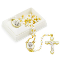First Communion Rosary Set for Girls
