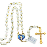 Miracle Rosary Mother of Pearl Beads