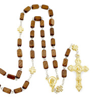Rectangle Wooden Beads Rosary