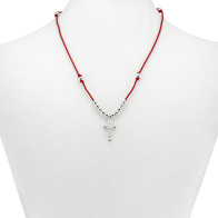 Red String Rosary Necklace