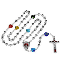 Immaculate Conception Heart Beads Rosary