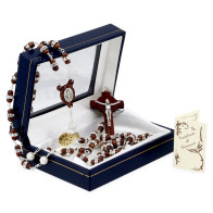 Rosary with Palisander Beads Incrusted with Swarovski Crystals