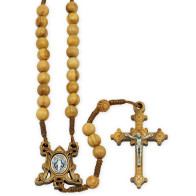 Olive Wood Rosary with Relic Wooden Box