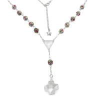 Rosary Necklace Swarovski Cross