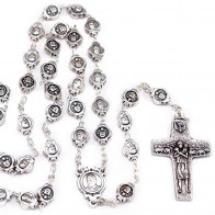 Rosary Metal Beads The Original Pope Francis Cross by Vedele