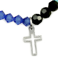 Life of Mary Rosary Bracelet with Sterling Silver and Swarovski Beads
