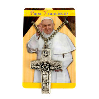 The Original Pope Francis Cross by Vedele-1 1/2 inch with Chain