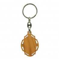 Divine Mercy Olive Wood Keychain