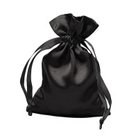 Black Satin Rosary Pouch