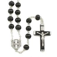 Nativity Black Rosary Gift Set with Prayer Card
