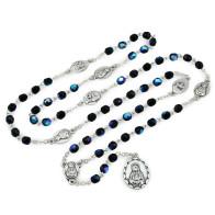 Rosary Servite Seven Sorrows Chaplet Black Crystal Glass Beads