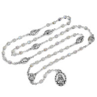 Rosary Servite Seven Sorrows Chaplet Crystal Glass Beads