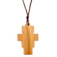 Olive Wood San Damiano Crucifix Pendant