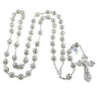 Sterling Silver Filigree Rosary Beads