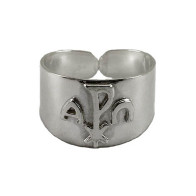 Alpha and Omega Sterling Silver Ring