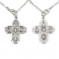 Pink Crystal Beads Rosary Bracelet