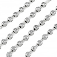 Miraculous Metal Rosary Set with Square Beads