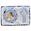 Cross and Medal Cradle Gift Set Baby Blue