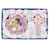 Cross and Medal Cradle Gift Set Pink