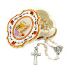 First Communion Gift Set, Peal Beads Rosary and Communion Keepsake Box