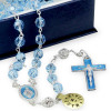 Rosary with Swarovski Blue Crystal Beads