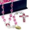 Swarovski Crystal Pink Rosary Beads Sterling Silver