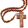 Rosary Wooden Beads Wood Cross